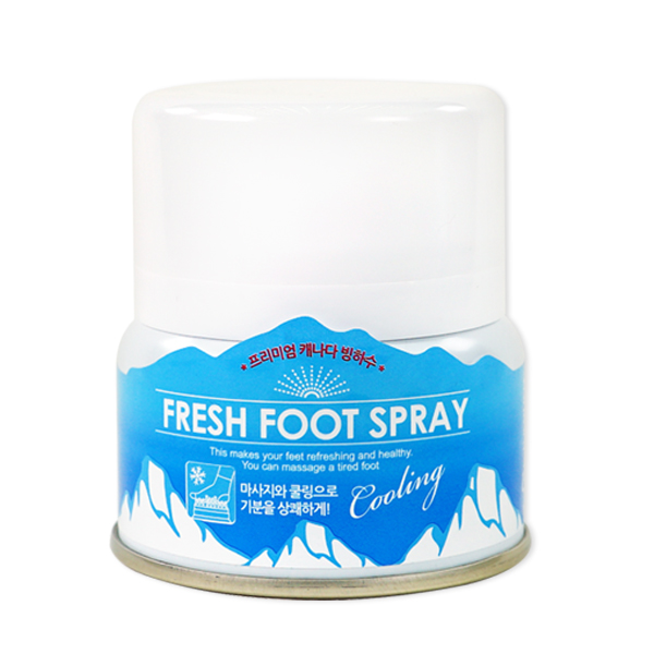 Cooling foot spray